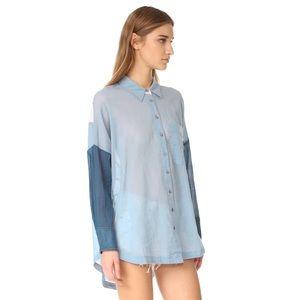 Rainbow Rays button down shirt